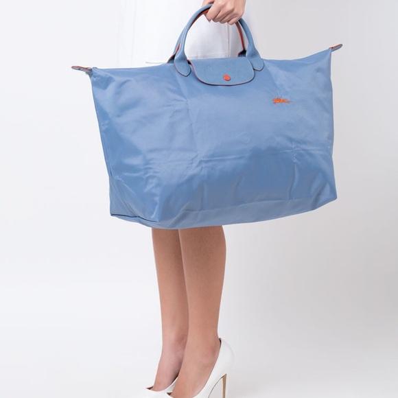 Longchamp Le Pliage Club Travel Bag XL Blue Mist